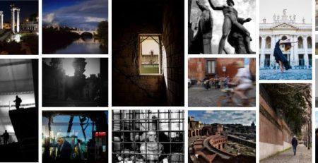Collage di foto dedicate alla città di Roma