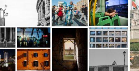 Collage di foto celebrative della città di Roma