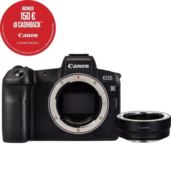 Canon EOS R + adattatore EF-EOS R summer cashback 2021
