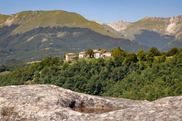Monti Sibillini, vista da Castro