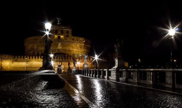 Roma di notte: Castel Sant'Angelo