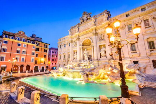 Rome, Italy – Fontana di Trevi, night image